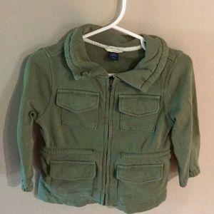 Baby girls green zip up jacket